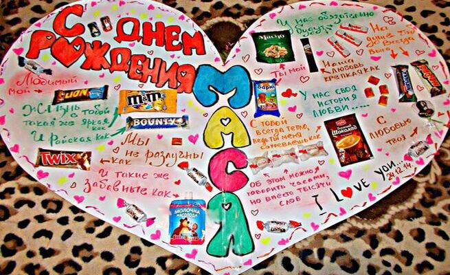 Плакат маме на день рождения без сладостей